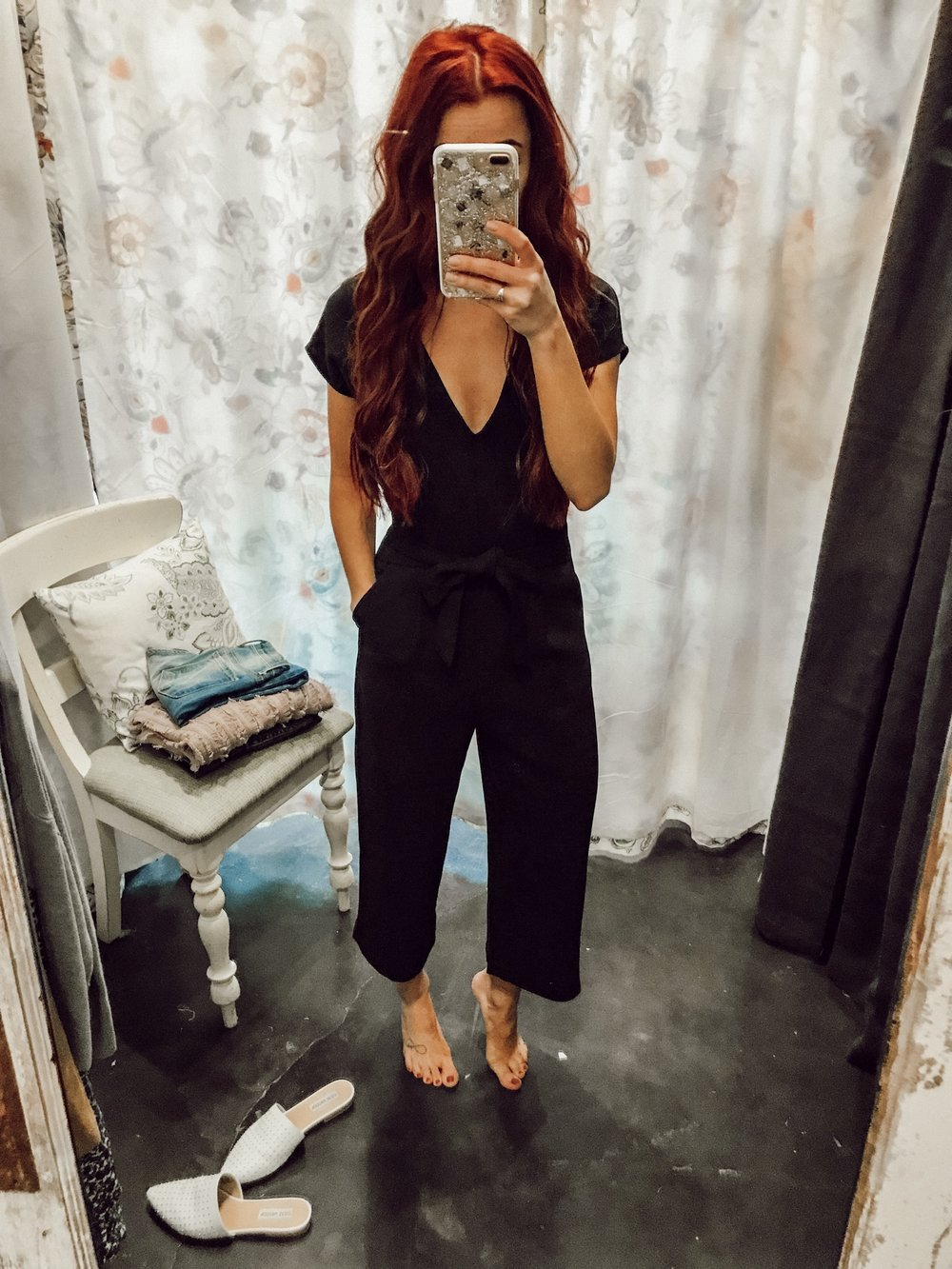 - Everyone needs a solid black jumpsuit. I loved this one because the crop pant is on trend for this one and works well for my height. You can shop it in store or call them for availability. The fit is seriously amazing.
