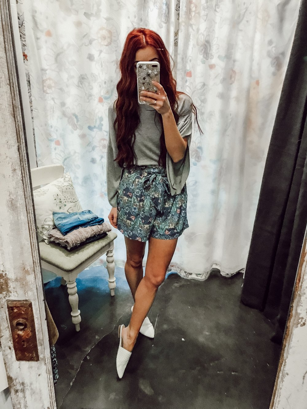 - Sweater and shorts weather is probably my favorite. This top could also be worn with denim shorts or distressed denim. The shorts could also be work with a white top. Need it now --> Shop the top, shop the shorts.