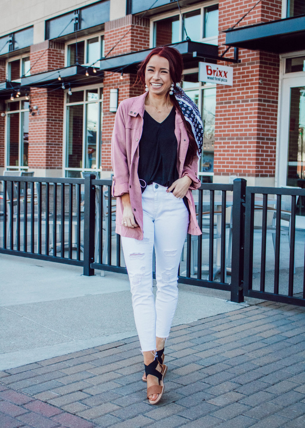 5 ways to wear the byTavi Slub Tee by popular Indianapolis fashion blogger Trendy in Indy