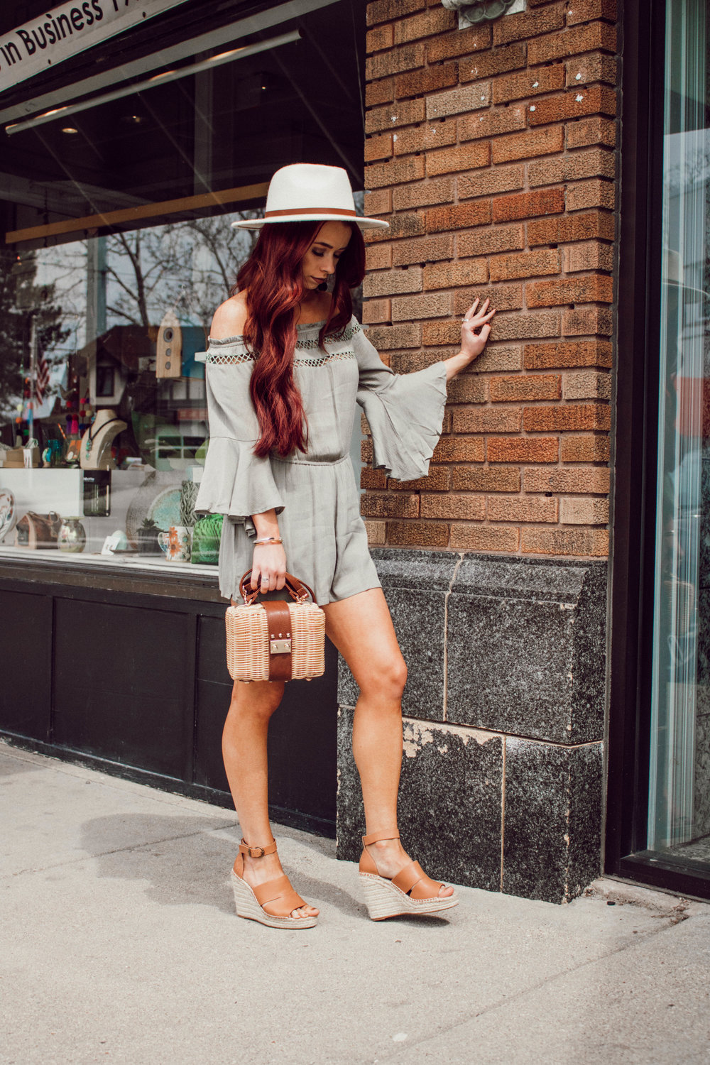 Olive Spring Outfit with Harper and Sky by popular Indianapolis fashion blogger Trendy in Indy