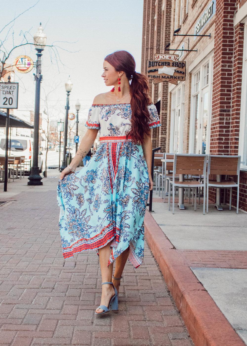 Dress,  Shop Goldy Lox  (TRENDY15) || Heels || Bracelets