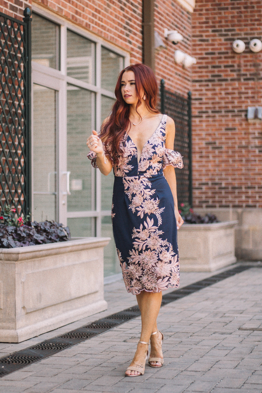 bc1d80454ffd7 Cute Summer Wedding Guest Dresses with Ella Mae's featured by popular  Indianapolis fashion blogger, Trendy