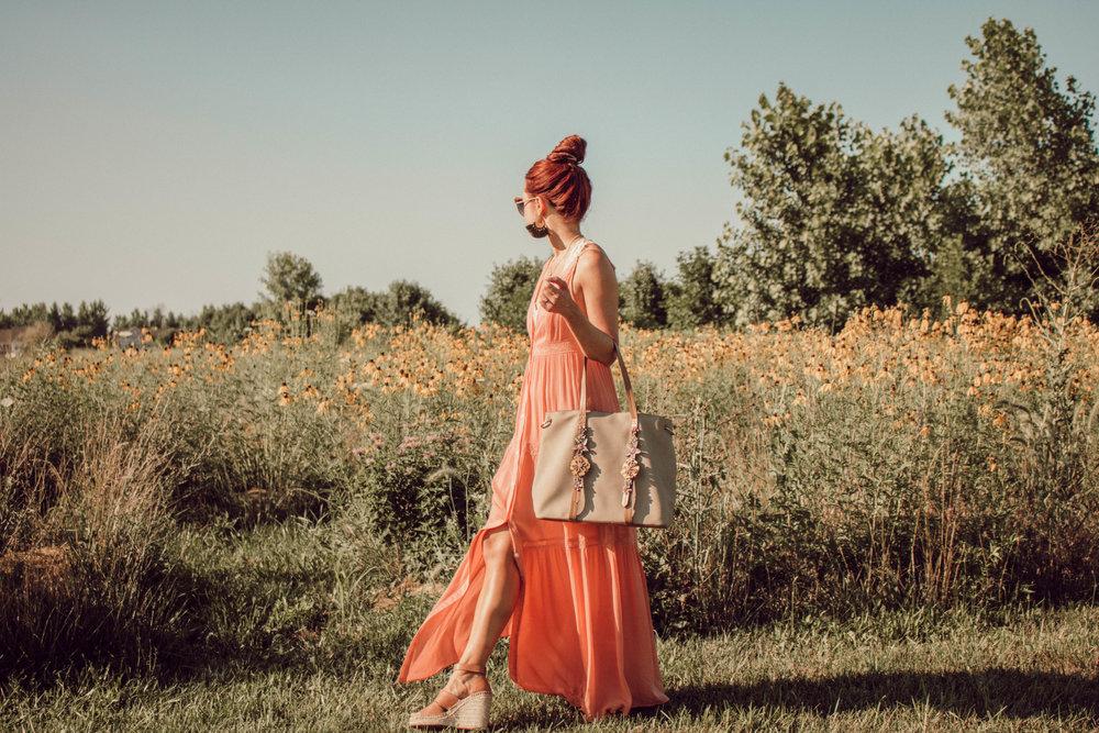 Wearing:  Emmer & Oat  || Bag:  Elle Jae Gypset