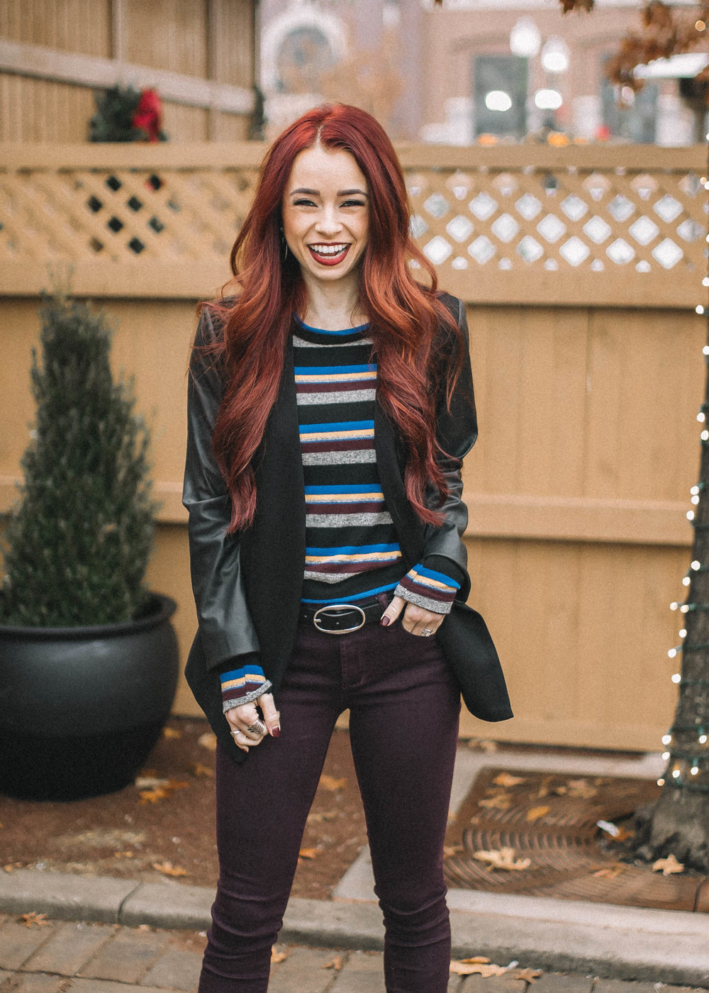 2 Holiday Party Outfits with Evereve featured by top Indianapolis fashion blog, Trendy in Indy: image of a woman wearing Evereve clothing ready to party