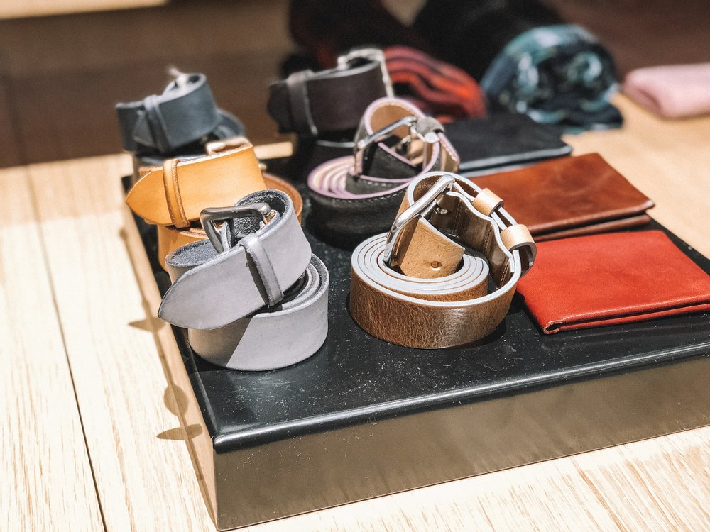 The Best Holiday Gifts for Men with Bonobos featured by top Indianapolis life and style blog, Trendy in Indy: image of colored leather belts