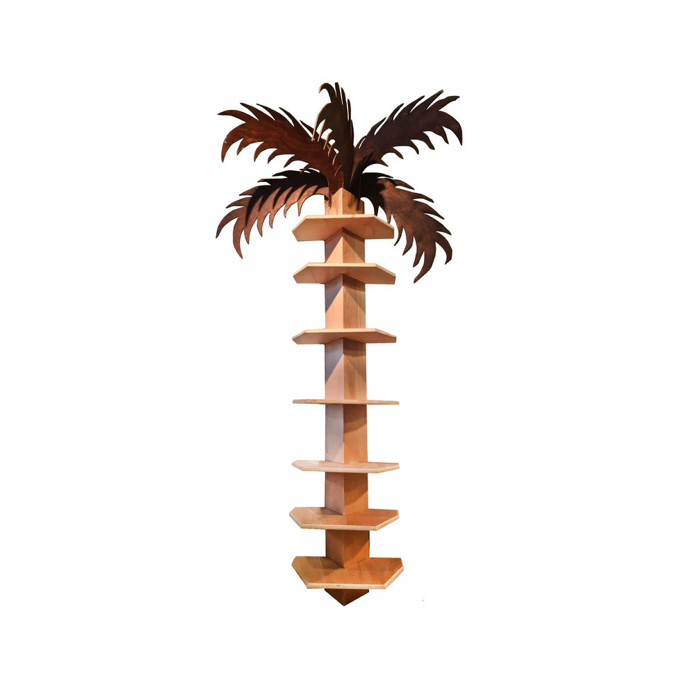 Slotted Palm Tree Shelving