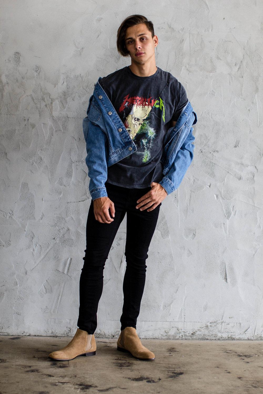 Shirt: Topman, Jacket, Jeans, Shoes: Zara