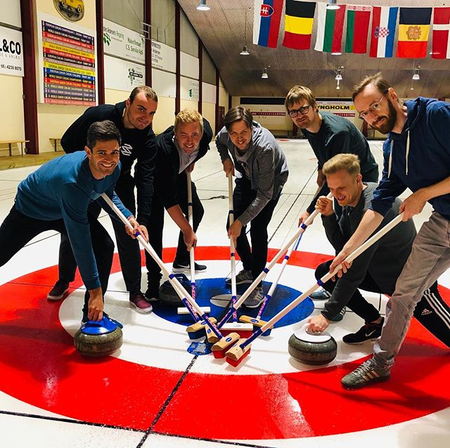 Besides programming apps, it turned out Team Apache is also talented in playing curling 🥌