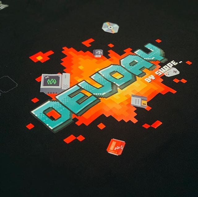 The new #devday t-shirts was announced this morning #pixelart