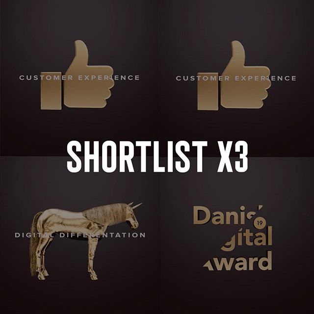 We are happy and proud that all of our submissions have been shortlisted by the Danish Digital Award, and as the only studio we have two entries on the Customer Experience shortlist. Kudos to our ambitious partners at Fitness World, Nordisk Film and Credit Suisse as well as everybody involved 🙌🏻