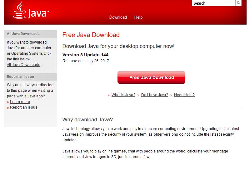 Navigate to https://java.com/en/download/ and download Java