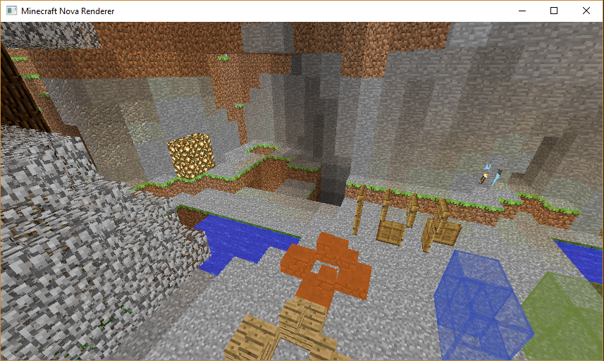 Nova Renderer: Now with lightmaps and water geometry, and different block-states (debug)