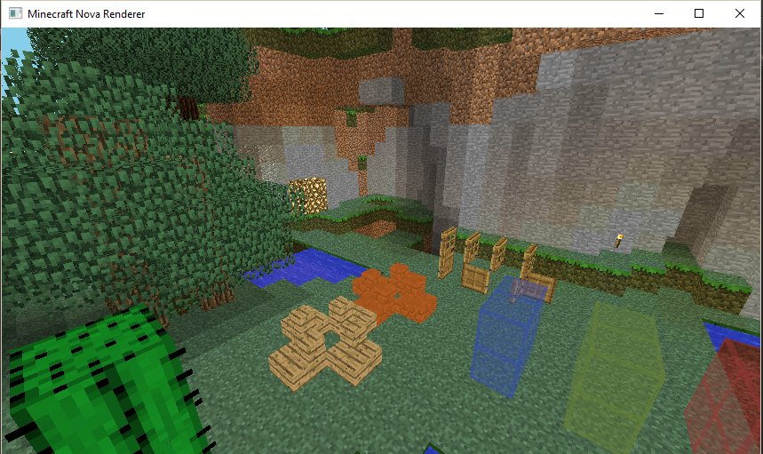 Nova Renderer rendering Minecraft in Vulkan. Very basic and very buggy right now, but progress is being made weekly.