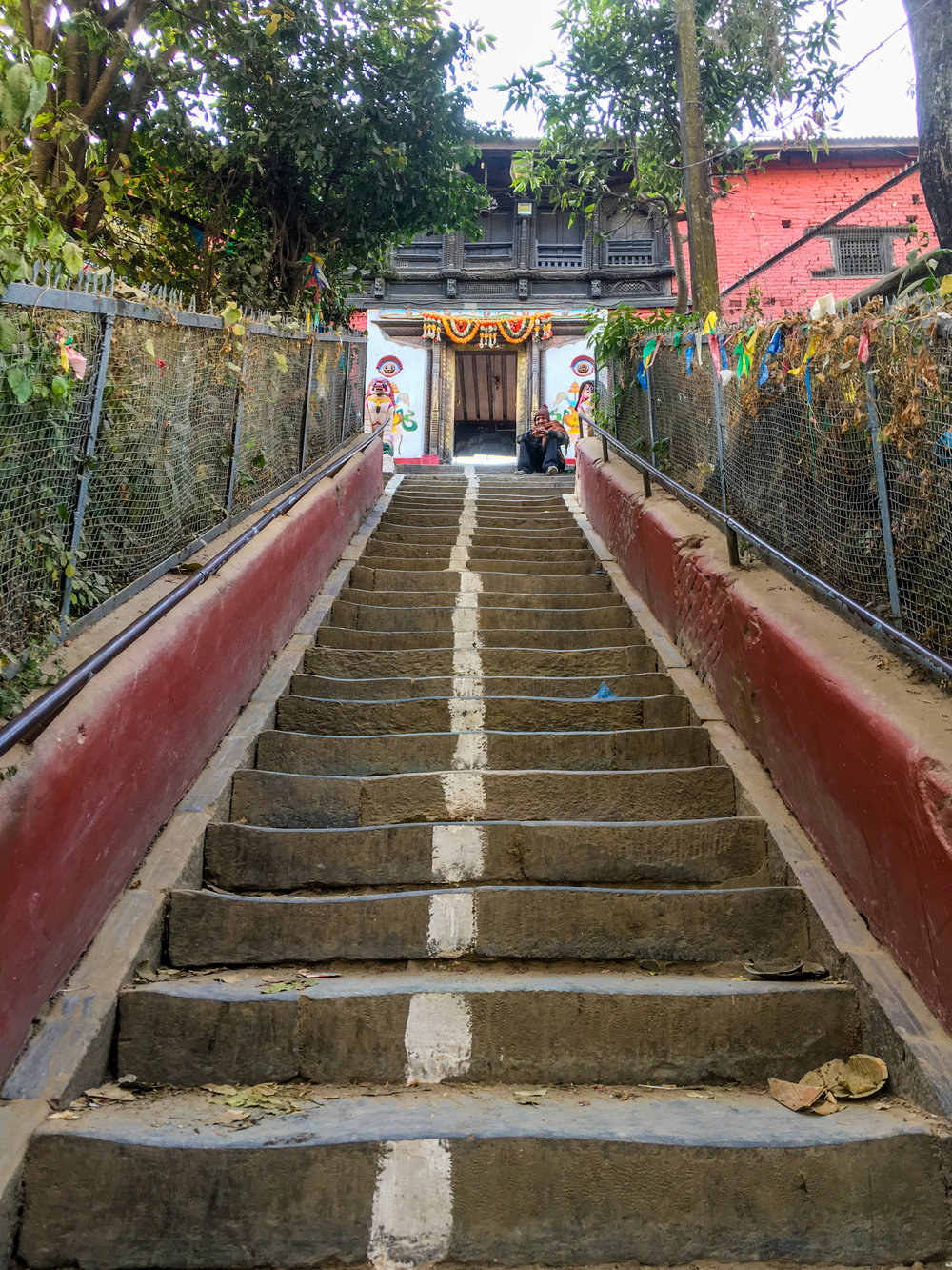 An interesting set of stairs somewhere on the west side of Kathmandu