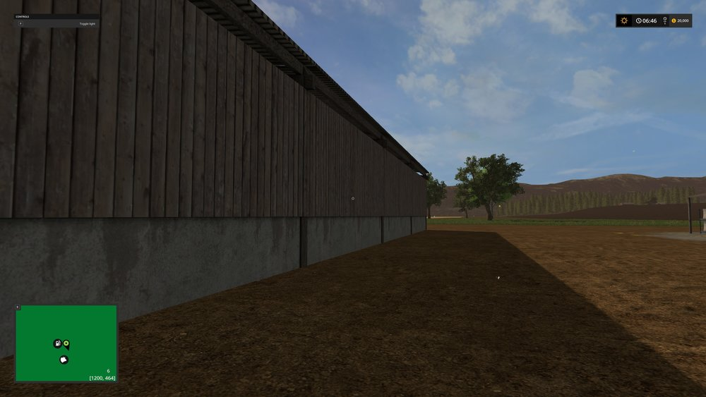 A barn on the Nagce Valley before detail was added