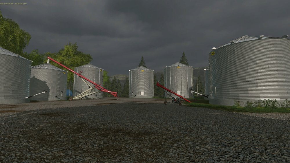 The functional augers and bins that I have in the dev version of Nagce Valley. While they may look the same they are a whole new ball game in game play. If you want to see the augers in action watch the video below from the UMRV team DR Modding