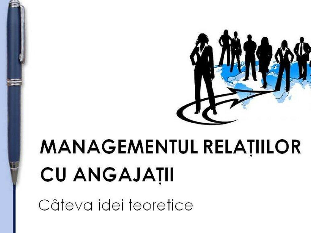 Managementul relatiilor cu angajatii - T&C'n Business