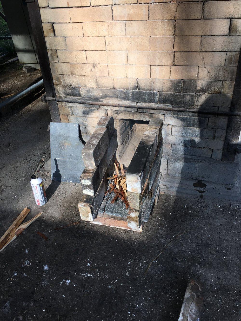 Akira San made the first flame.