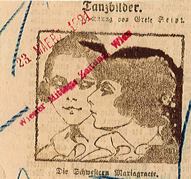 The Mariagraete Sisters. An Austrian press cutting from 1921 (Reference: Press cuttings, Dance, The Music and Theatre Library of Sweden).