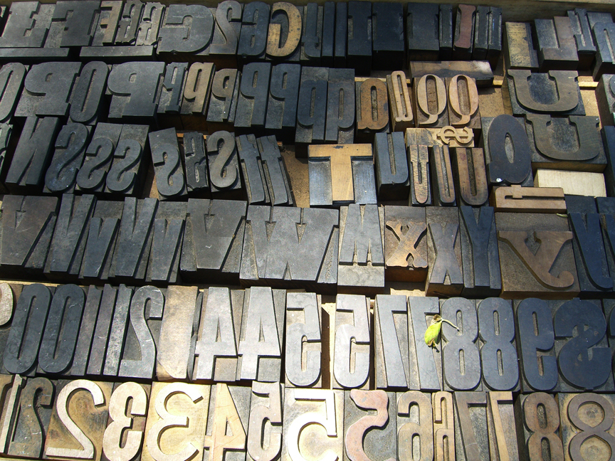 Printing Type Blocks