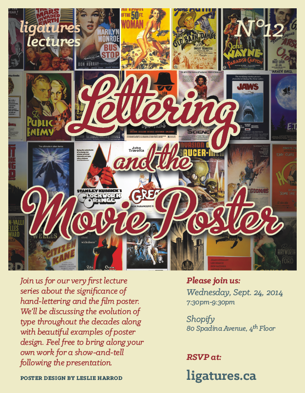 Lettering and the movie poster