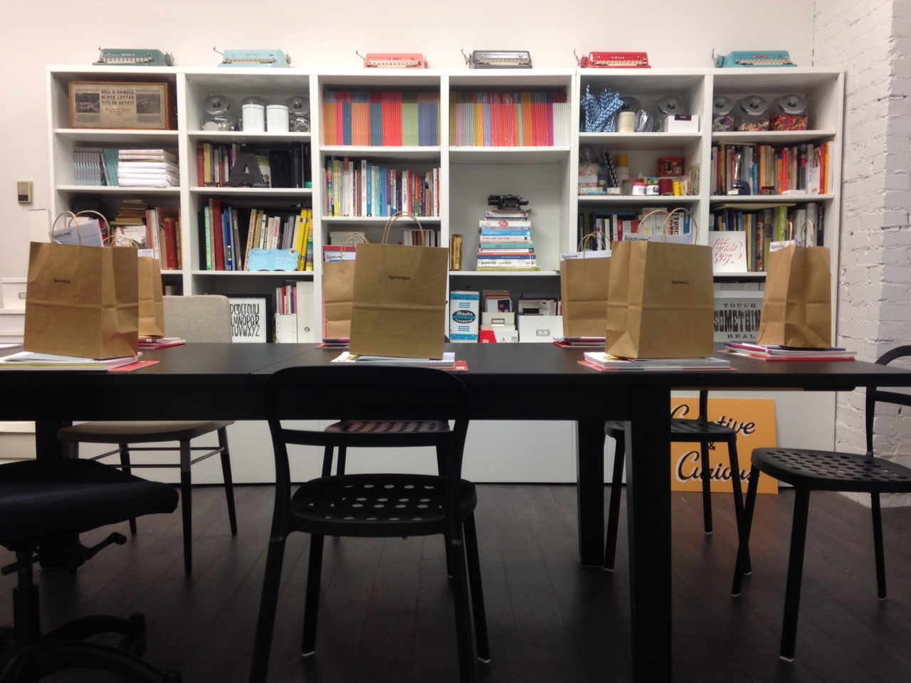 Setting Up the workshop at Uppercase Magazine