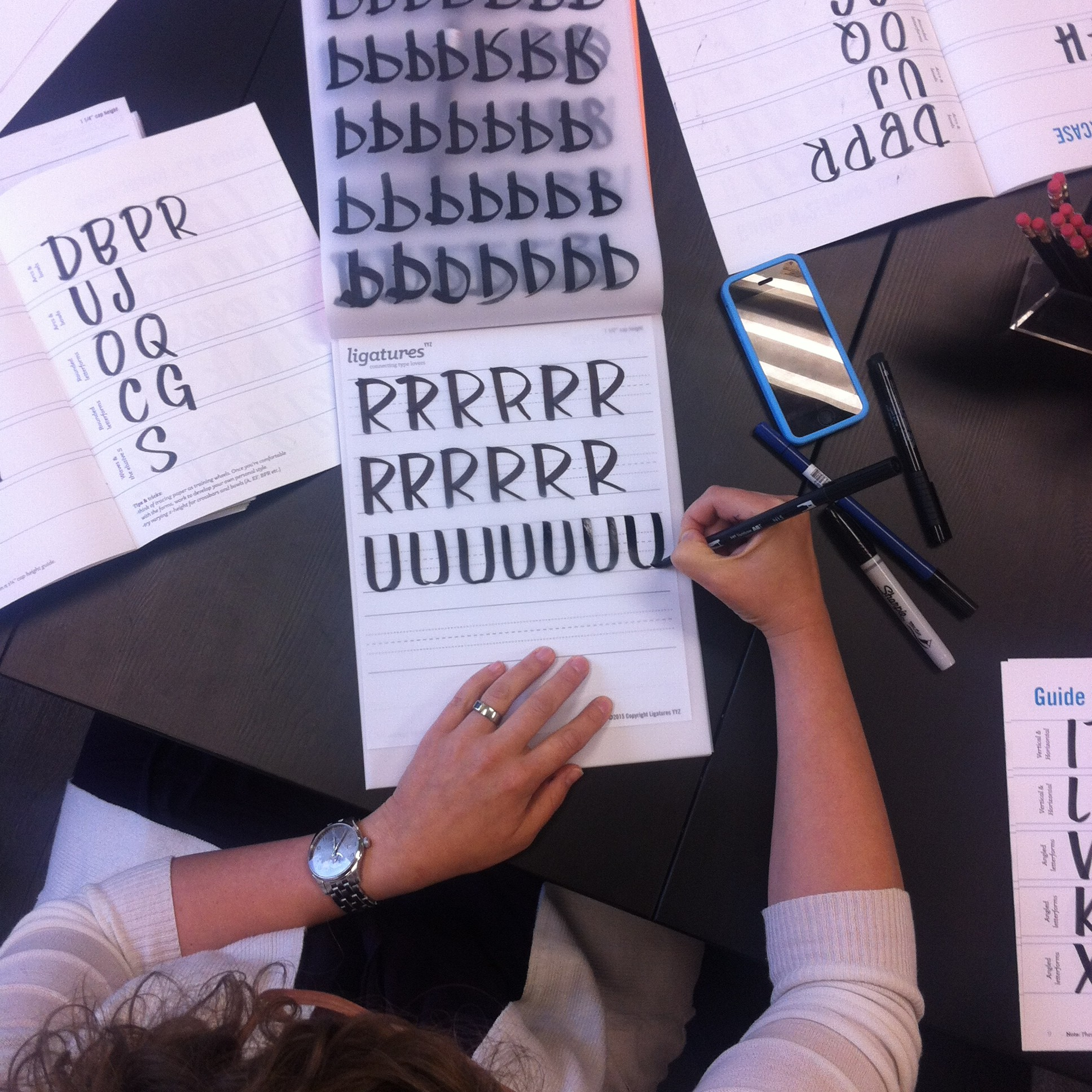 Perfect lettering forms taking shape