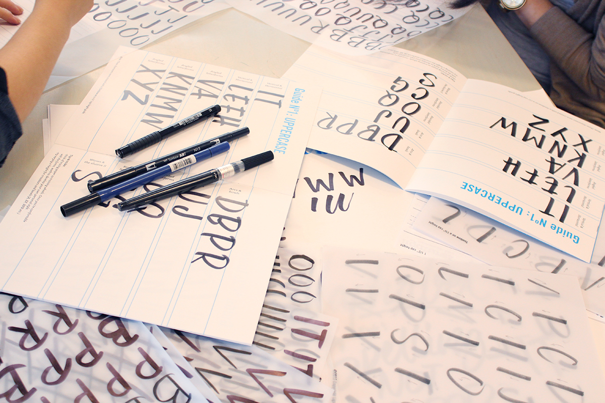 Ligatures Brush lettering workbook and brush lettering in Toronto