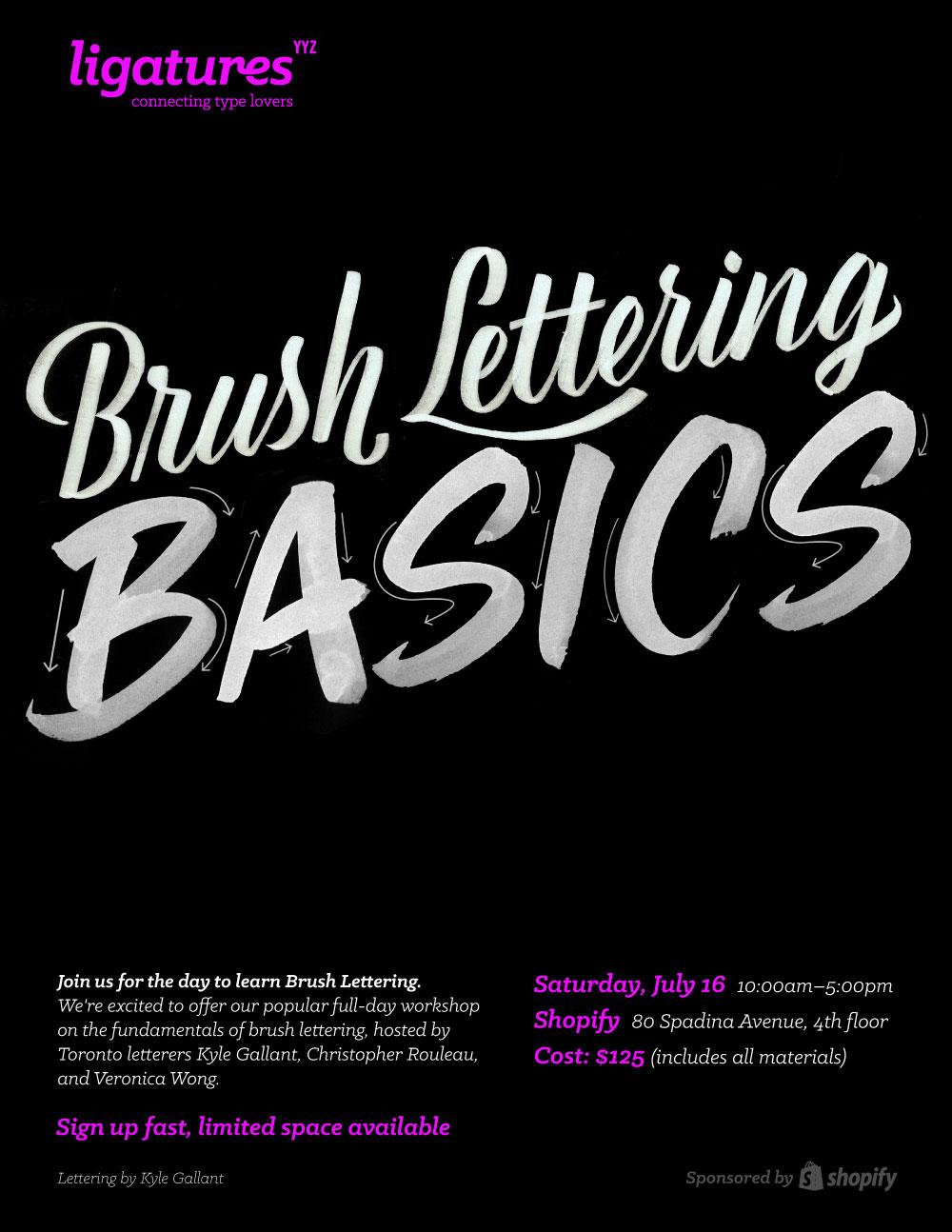 Ligatures Toronto Brush Lettering Workshop