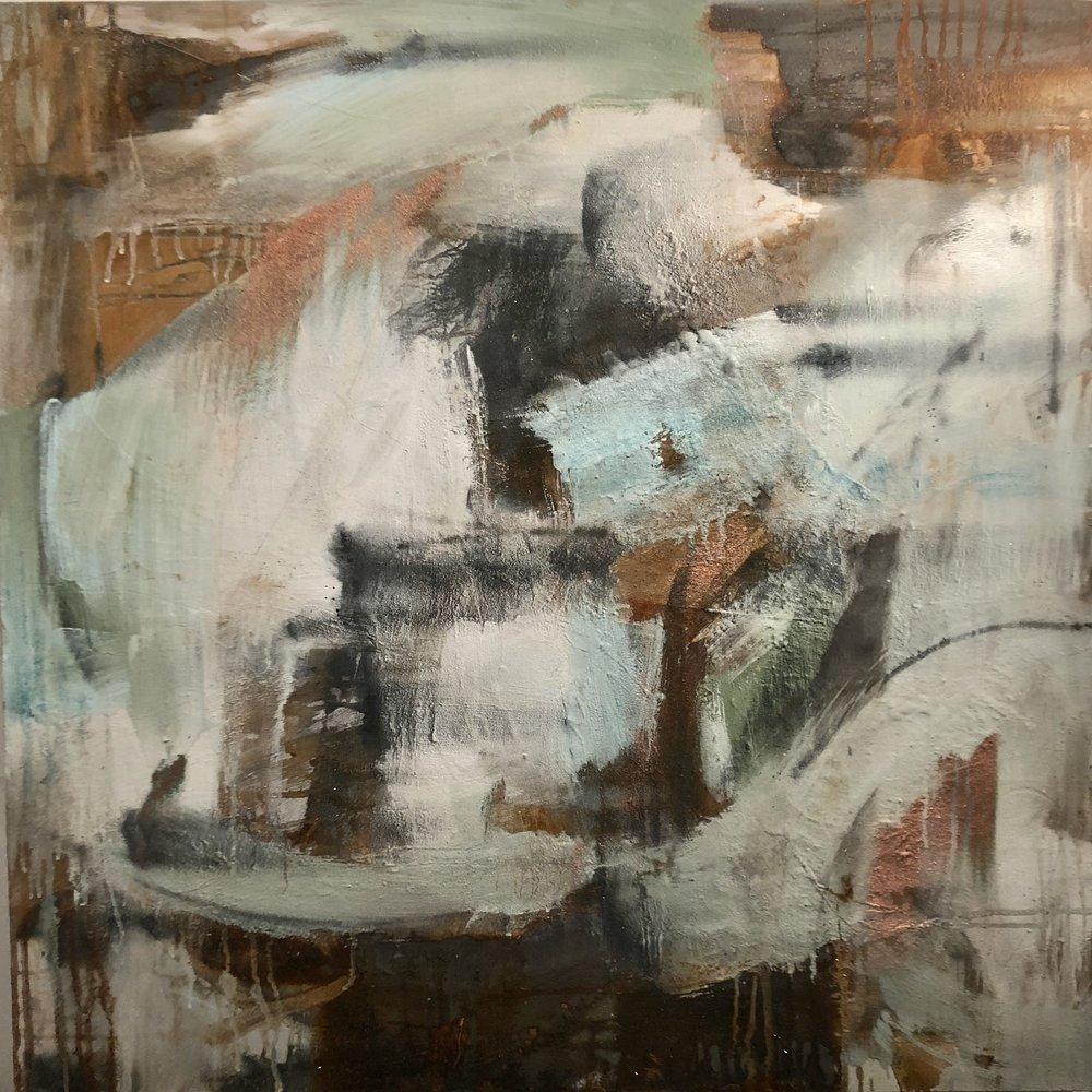 Facade  Acrylic and Mixed Media on Canvas 100 x100 cm