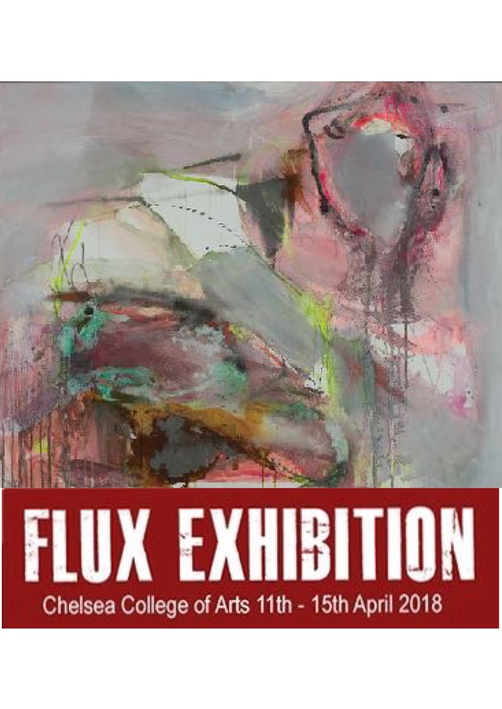 For the first time, I will have work on show at this prestigious exhibition at Chelsea College of Arts. Please click on the link for your free ticketsPrivate View 11th April 6.30 -9.30 pm.      www.fluxexhibition.com/tickets/    -