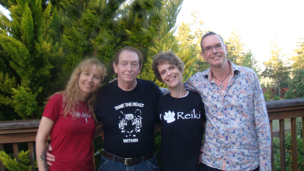 Alan and Ann (center) with their Reiki teachers, Kathleen Prasad of Animal Reiki Source and Frans Stiene of International House of Reiki