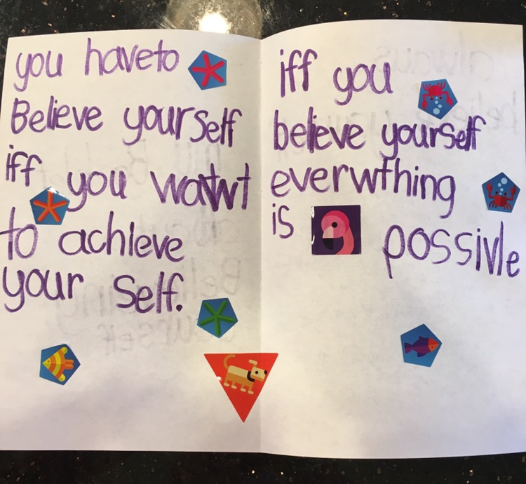 "Keylen's daily motivation: ""YOU HAVE TO BELIEVE YOURSELF IF YOU WANT TO ACHIEVE YOURSELF. IF YOU BELIEVE YOURSELF EVERYTHING IS POSSIBLE."""