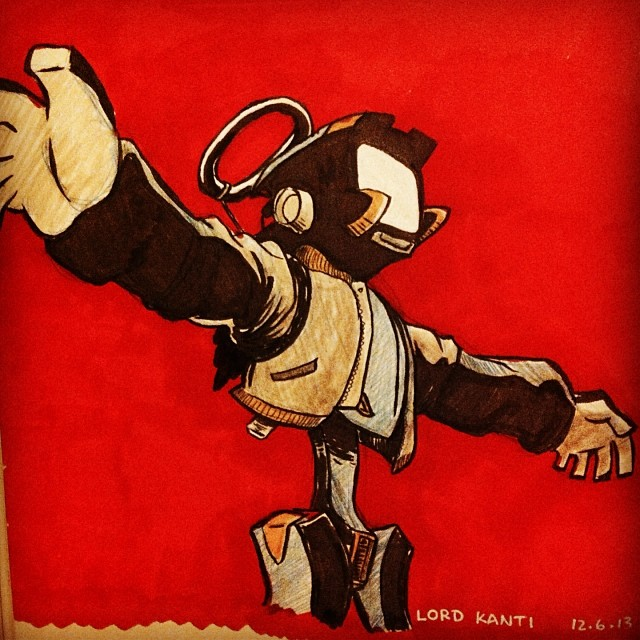 Lord Canti sketchbook illustration.