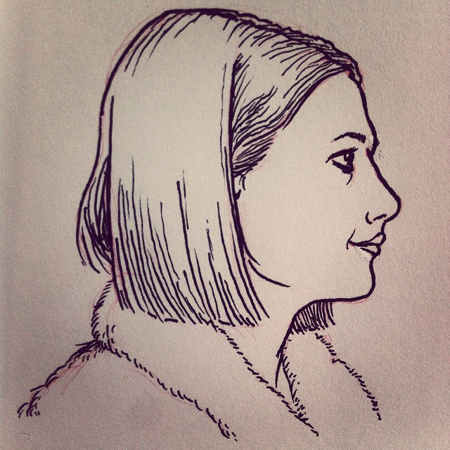 Margot Tenenbaum sketchbook illustration.