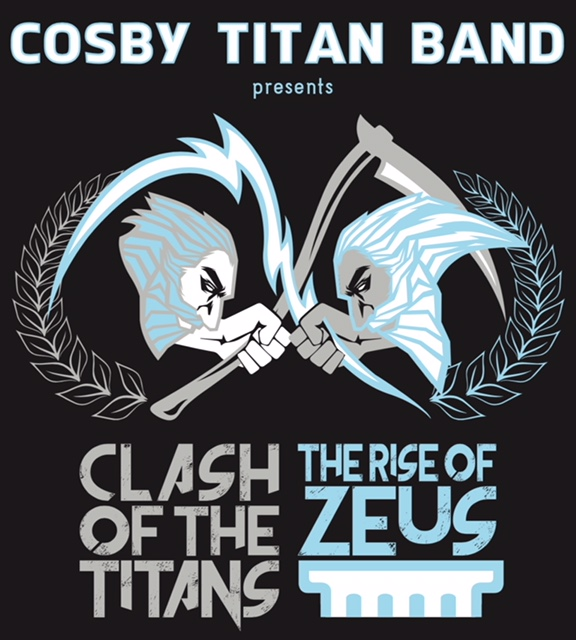 Clash of the Titans: The Rise of ZeusOur show this year depicts the final battle in the War of the Titans for the rule of the universe between Kronos, The Ruler of the Titans, and his youngest son, Zeus. During the battle on Mount Othrys, Zeus defeats his father and the Titans with the thunderbolts fashioned for him by the Cyclops. Thus ends the Golden Age and begins the Age of the Olympians, with Zeus taking his place as the King of the Gods. -