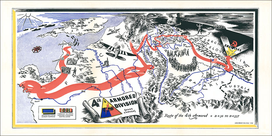 Th Armored Division US Army Divisions - Us armor unit map