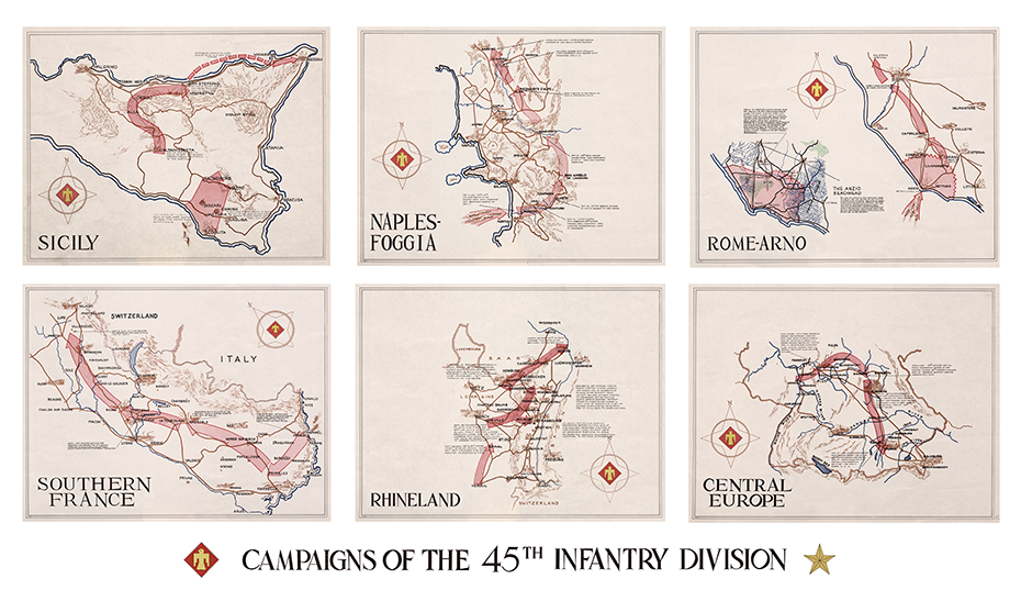 45th Infantry Division campaign map