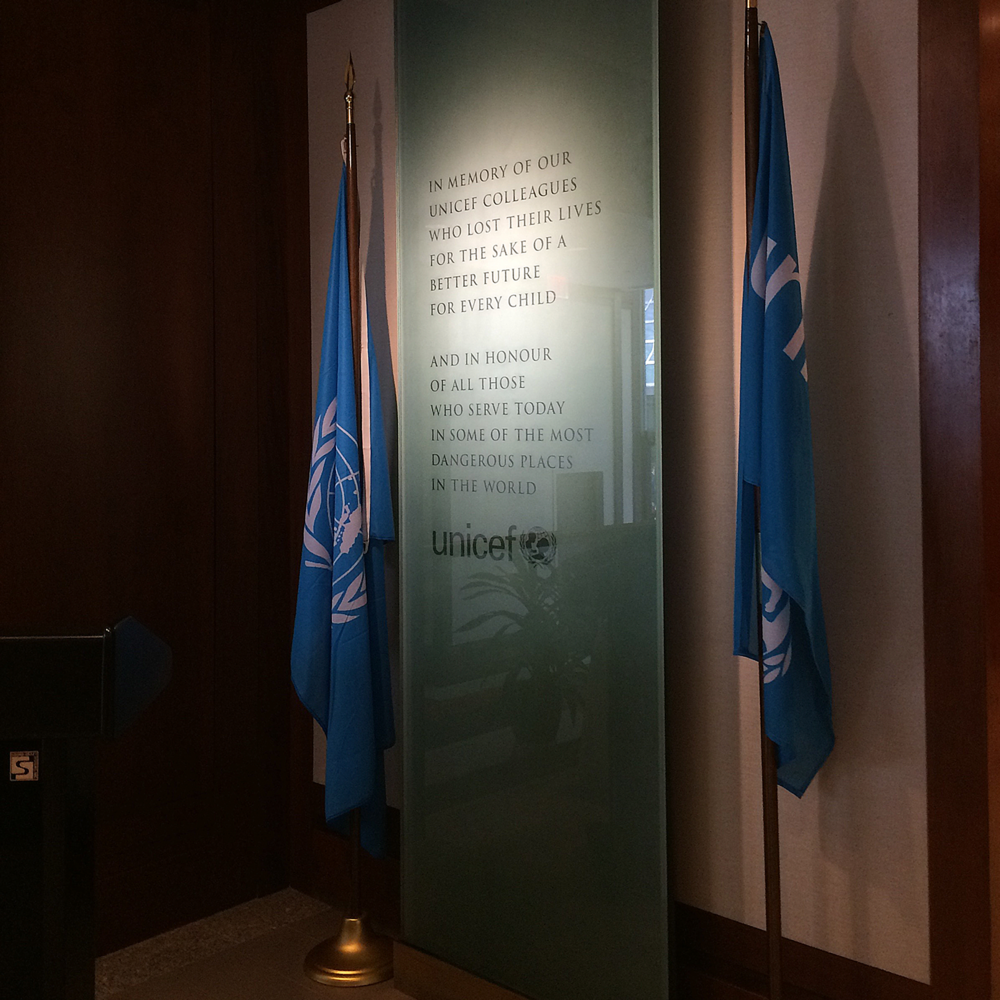 UNICEF Headquarters   Multiple special projects, such as this Staff Memorial, for the Communications and Executive Offices.