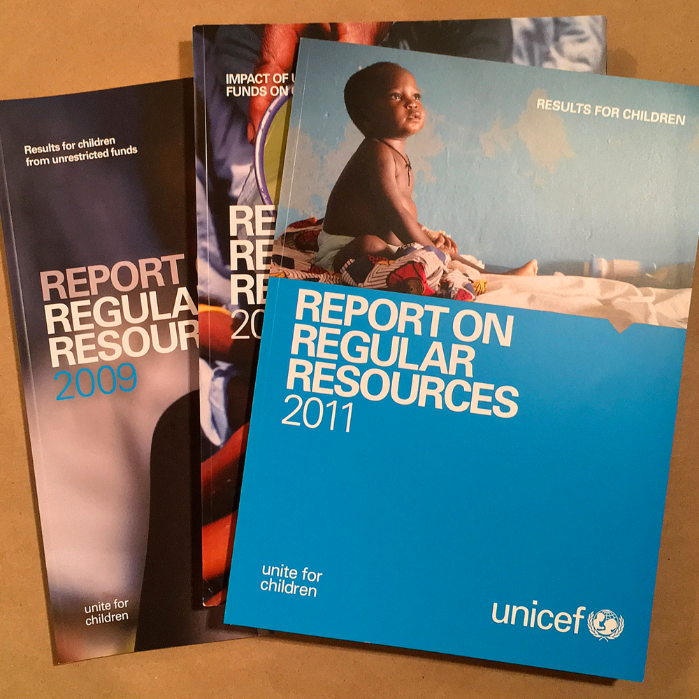 UNICEF, Geneva   Financial reports, dynamic publishing, conference and collateral material.