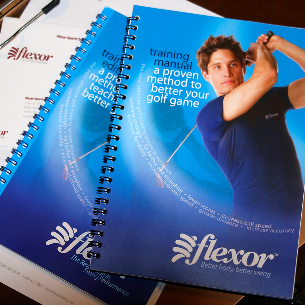 Flexor Sports Training   The training method included sturdy and easy to use training manuals for both the student and the trainer.