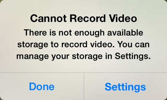 You do not want to see this message come up when you've got an irreplaceable memory on the line. Anyone with an iPhone knows how frustrating this notification can be when you're trying to capture a special moment.