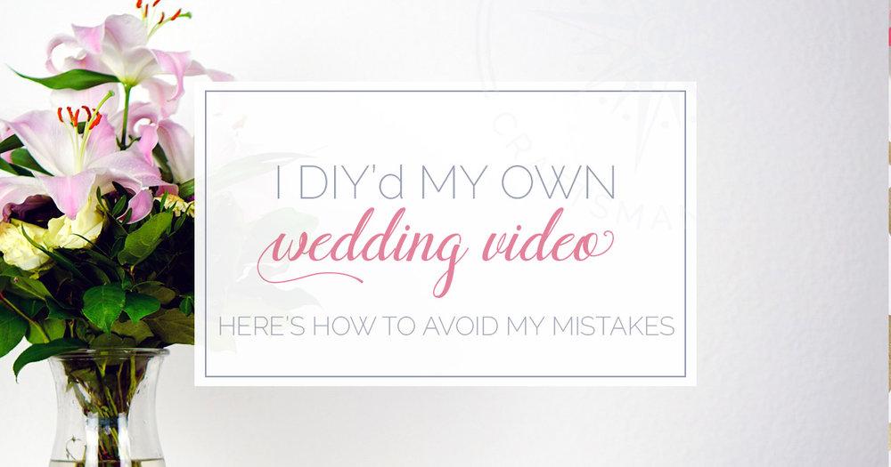 DIY My Wedding Video | Cape Cod wedding video