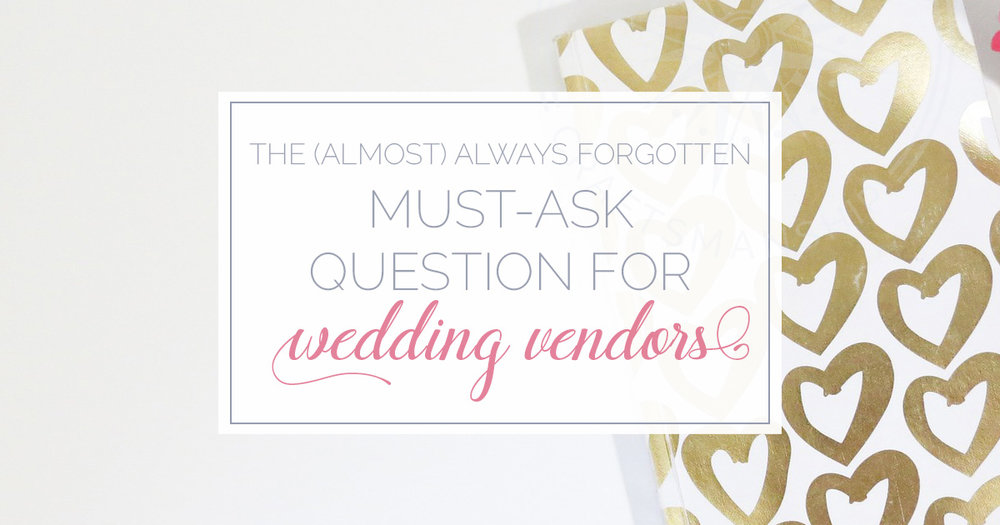 must-ask question wedding vendors | Cape Cod Wedding Video