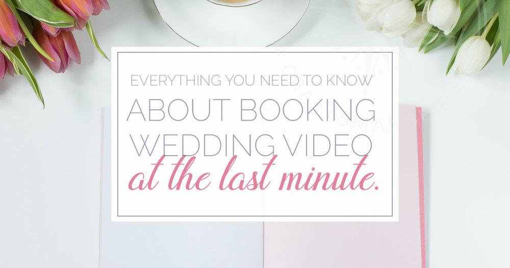 booking last minute wedding video | Boston Wedding Video