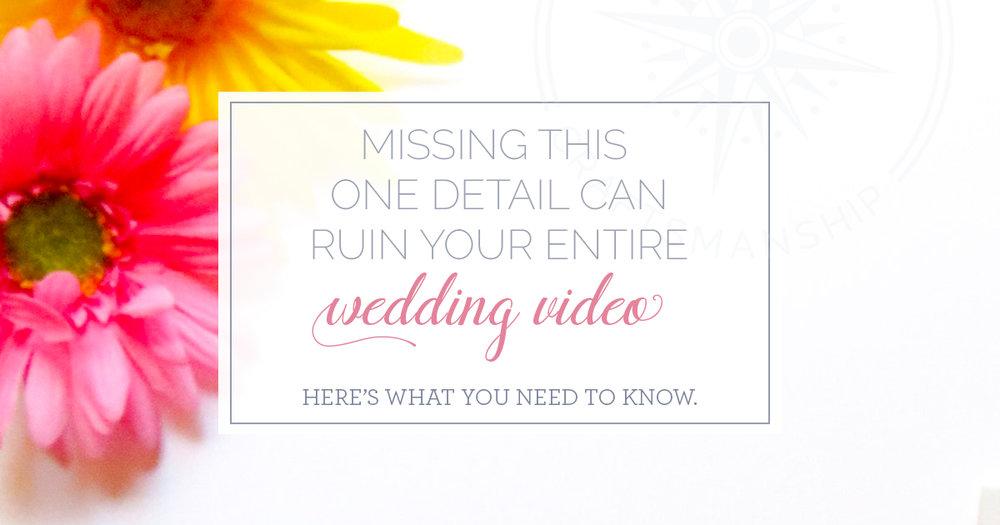 Audio for wedding videos | New England Wedding videography