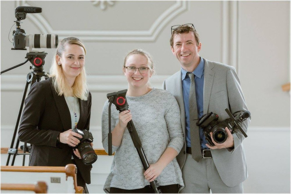 Harborview Studios Film Crew at Wedding | photo credit: Shoreshotz Photography