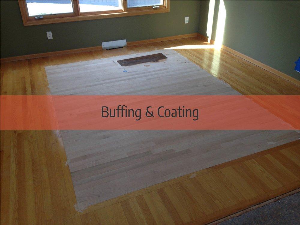 hardwood floor buffing & coating
