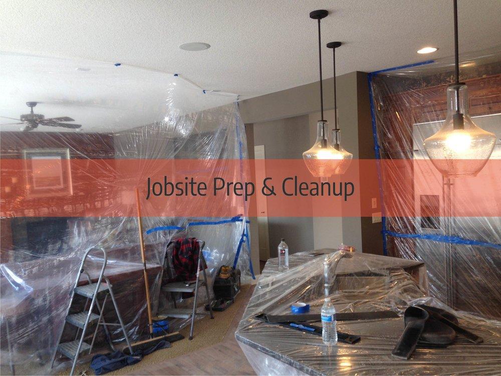 hardwood floor jobsite preparation and cleaning
