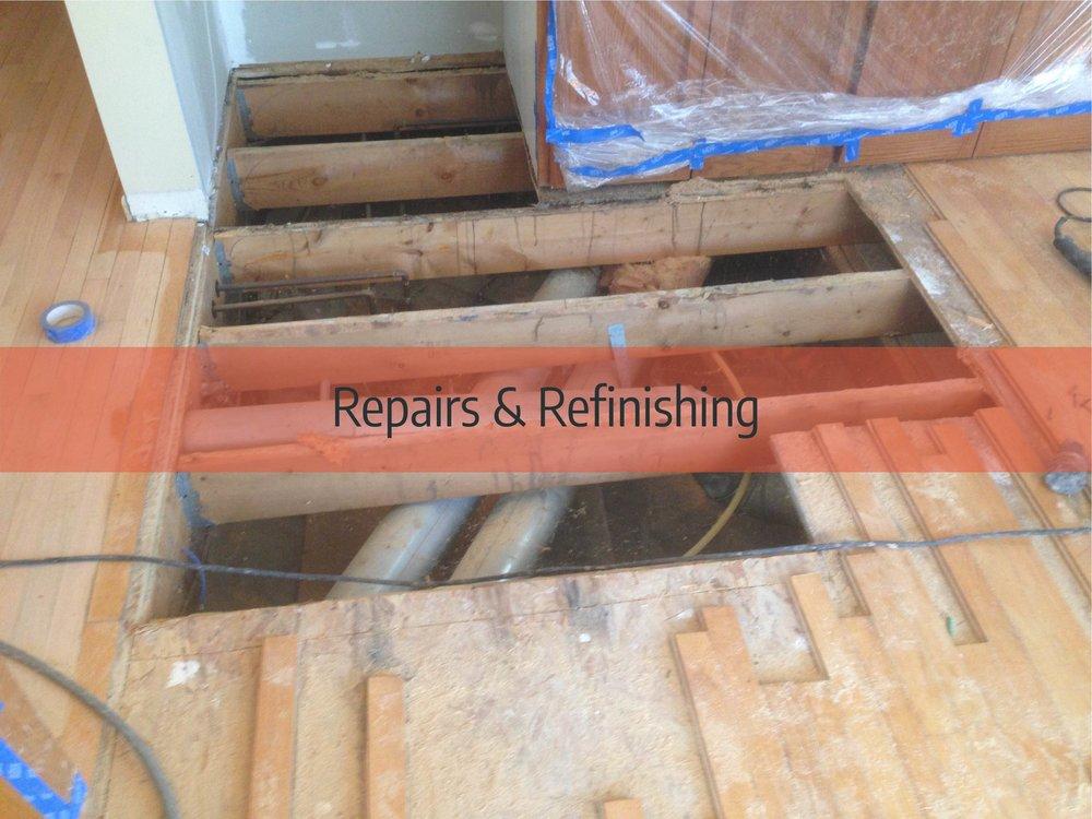 hardwood floor repairs & refinishing